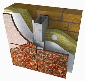 Подсистема вентилируемых фасадов под натуральный камень
