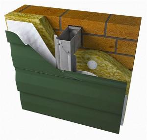 Подсистема вентилируемых фасадов под облицовку металлосайдингом