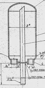 Воздухосборник вертикальный и горизонтальный с плоским и элептическим днищем А1И