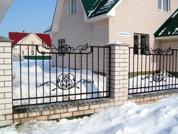 Фото Забор кованый