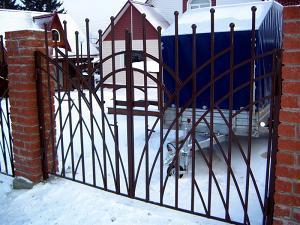 Сварные ворота, ворота въездные,ворота распашные