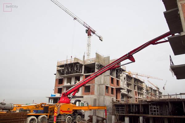 Фото Ход строительства ЖК МОРЕ (04.2012)