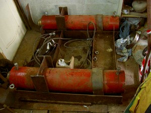 Установка для продавливания труб в грунте