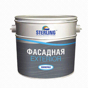 Краска фасадная ЭКСТЕРИОР (минерал) ВДАК-111база А тм Стерлинг