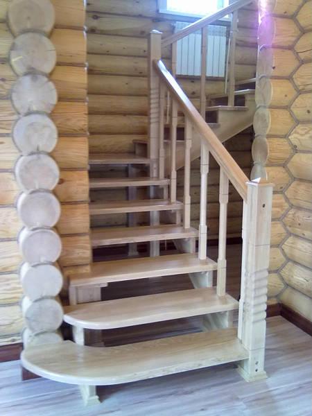 Фото Лестницы деревянные
