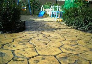 Декоративно-печатный бетон: дорожки, площадки, аллеи и т.д