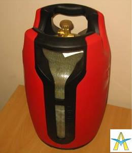 Газовый баллон пластиковый взрывобезопасный Passion 10, 24.7 литра