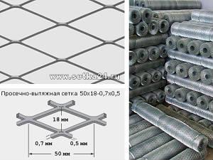 Просечно-вытяжная сетка ЦПВС (армирующая) 50х18-0,7х0,5
