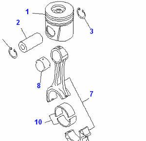 Шатун для экскаватора Komatsu, двигатель SAA6D102E