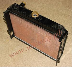 Радиатор охлаждения двигателя на погрузчик Mitsubishi FD15, двигатель