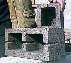 Блоки мелкоштучные керамзитобетонные (40х20х20)