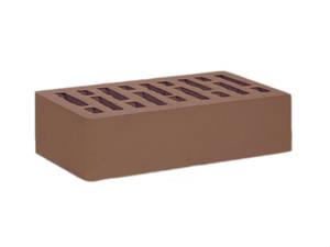 Кирпич облицовочный керамический коричневый одинарный