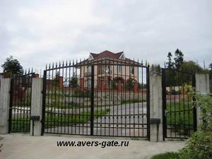 Ворота распашные, арочные