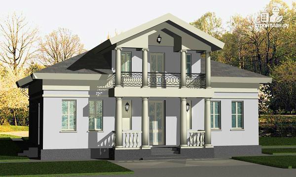 Фото 3: проект романтический дом с мезонином