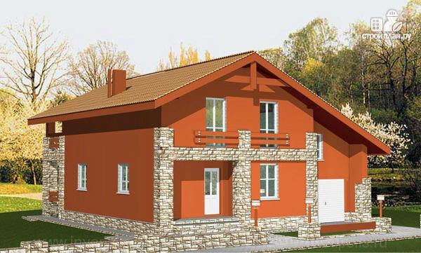 Фото 4: проект дом с пятью спальнями и двумя гостиными, верандой, сауной и навесом