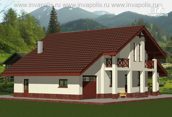 Фото 3: проект дом шале с шестью спальнями и гаражом