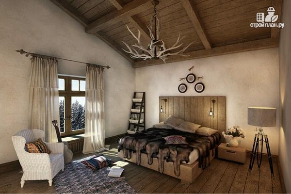 Фото 6: проект дом шале с шестью спальнями и гаражом