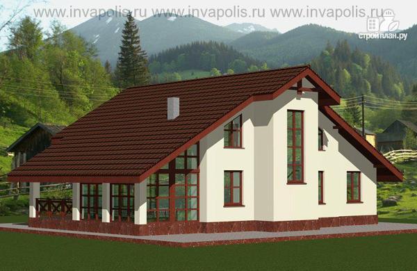 Фото 4: проект дом шале с шестью спальнями и гаражом