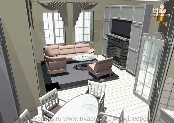 Фото 5: проект очень компактный комфортный дом с четырьмя спальнями