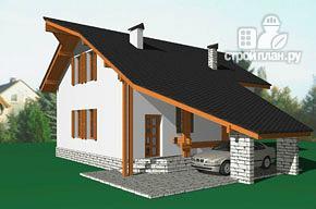 Фото 2: проект удобный стильный дом с треугольным эркером, с четырьмя спальнями
