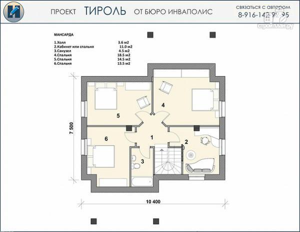 Фото 3: проект просто красивый удобный компактный дом