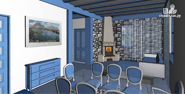 Фото 5: проект одноэтажный дом из пенобетона с тремя спальнями и сауной