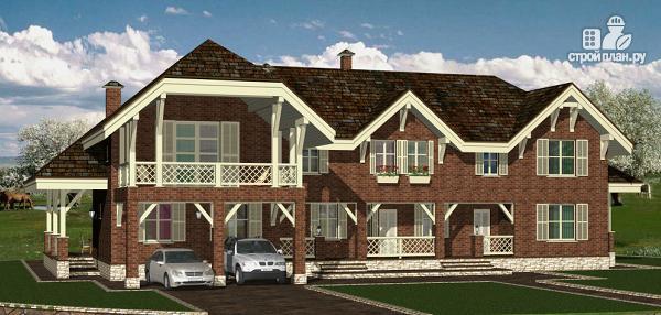 Фото 4: проект дом в английском стиле на две семьи с дополнительными комнатами