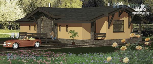 Фото: проект одноэтажный удобный стильный дом