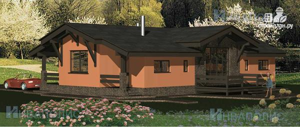 Фото 3: проект одноэтажный удобный стильный дом