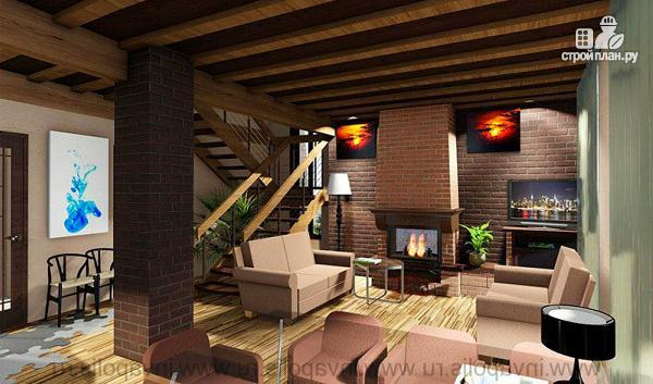 Фото 6: проект просторный компактный коттедж с пятью спальнями, верандой, сауной и гаражом