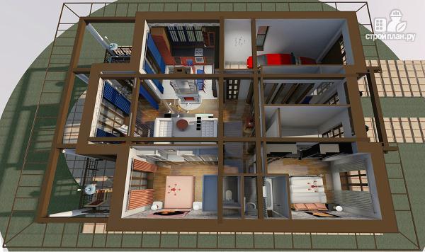 Фото 4: проект одноэтажный дом с классическим интерьером