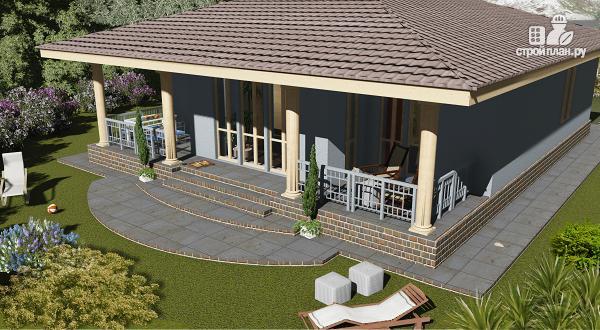 Фото 3: проект одноэтажный дом с классическим интерьером