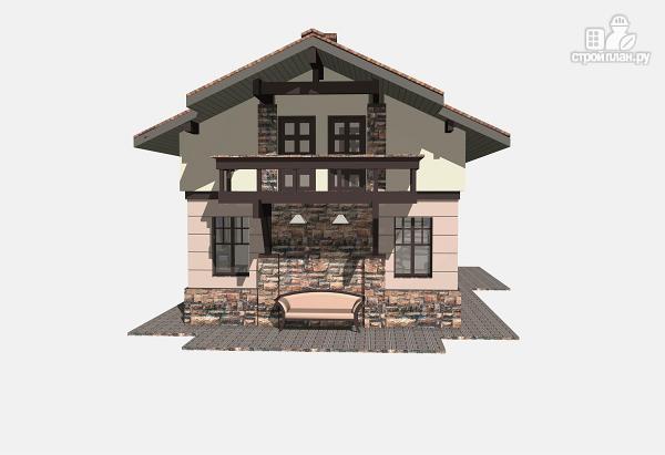 Фото 4: проект простой дом 7 х 9 из газоблока, с балконами