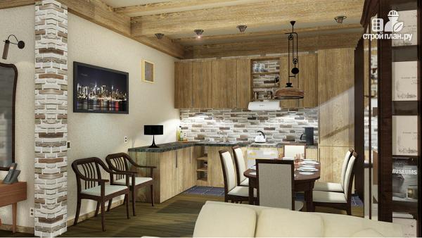 Фото 5: проект дом одноэтажный 10х10 с 2 спальнями и сауной
