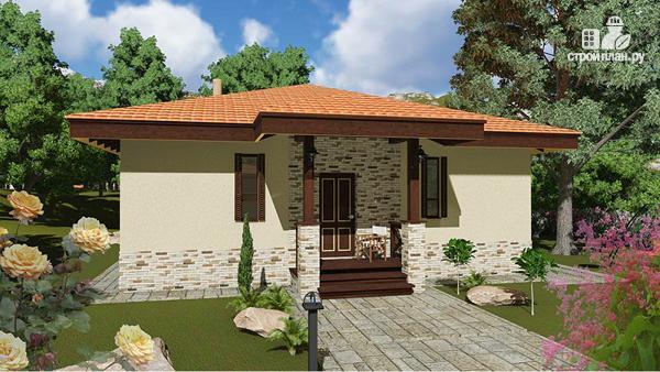 Фото 4: проект дом одноэтажный 10х10 с 2 спальнями и сауной