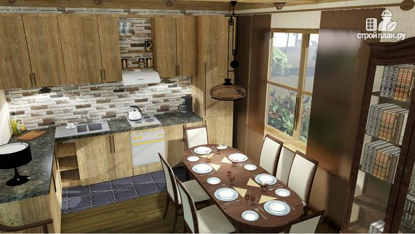 Фото 5: проект одноэтажный домик 10 на 10 метров с угловой террасой