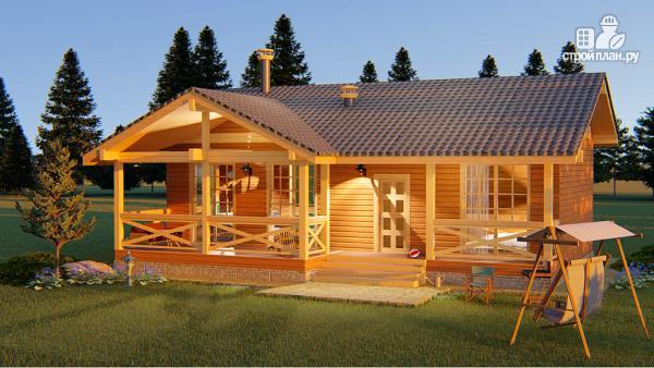 Фото 3: проект банька или дом из бруса 60 м2