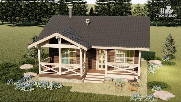 Фото 5: проект трехкомнатный дом 45 м2 или банька из бруса