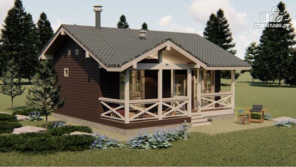 Фото 3: проект трехкомнатный дом 45 м2 или банька из бруса