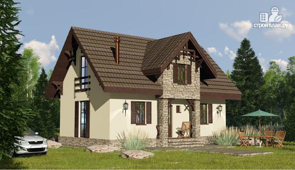 Фото 4: проект простой дом 6 х 10 метров с 3 спальнями