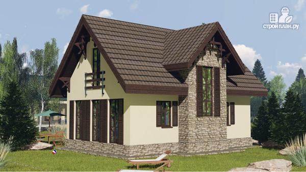 Фото 3: проект простой дом 6 х 10 метров с 3 спальнями