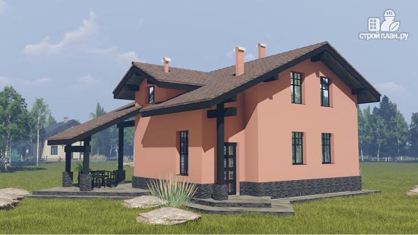 Фото 3: проект дом 9 на 9 метров с тремя спальнями, эркером и вторым светом