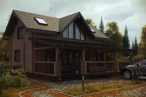 "Двухэтажный дом из бруса 7х7, проект ""Яхрома"""