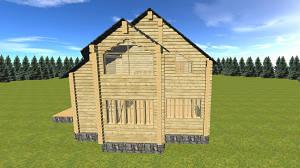 """Двухэтажный дом из бруса 10х7, проект """"Зодчество"""""""