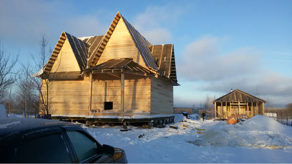 "Фото Строительство дома из бруса 9х10, проект ""Зодиак"""