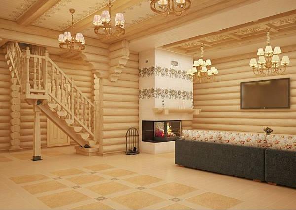 Фото Красивый интерьер деревянного дома - 1