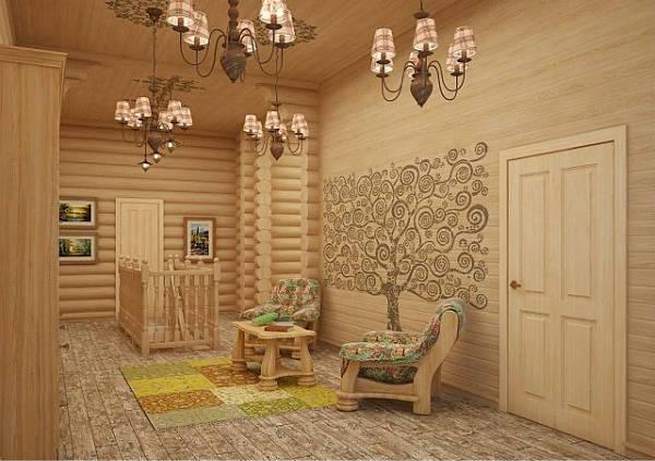 Фото Красивый интерьер деревянного дома - 2