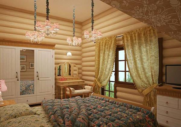 Фото Красивый интерьер деревянного дома - 3