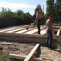 Фото 2: Начало строительства. Первый ряд
