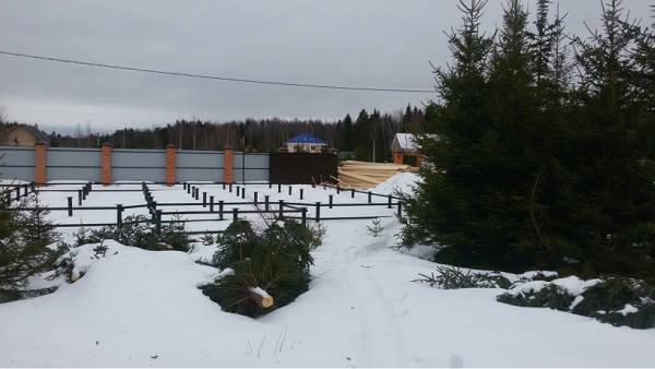 """Фото Свайно-винтовой фундамент на дом по проекту """"Лесные Пруды"""""""